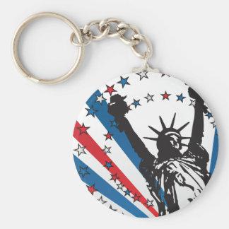 Libertad de los E.E.U.U. Llavero Redondo Tipo Pin