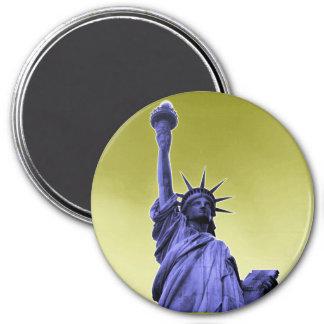 Libertad de oro imán redondo 7 cm