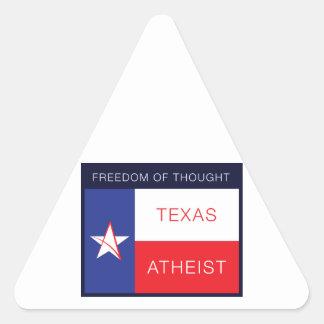 Libertad de pensamiento pegatina triangular