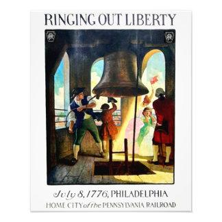 Libertad de Philadelphia en el ferrocarril de Arte Con Fotos