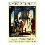 Libertad de Philadelphia en el ferrocarril de Penn Tarjeton