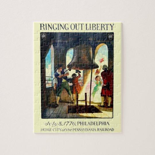 Libertad de Philadelphia en el ferrocarril de Puzzle