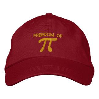 Libertad de pi gorra de béisbol bordada