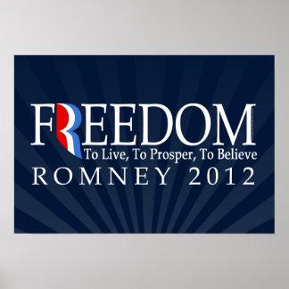 Libertad de Romney Póster