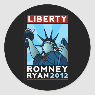 Libertad de Romney Ryan Etiqueta Redonda