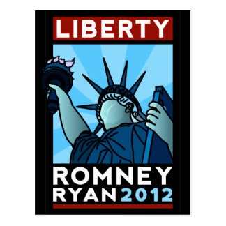 Libertad de Romney Ryan Postal