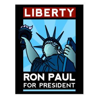 Libertad de Ron Paul Postales