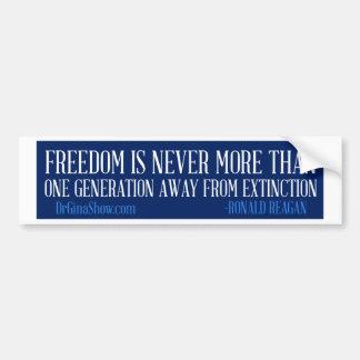 Libertad de Ronald Reagan Pegatina Para Auto
