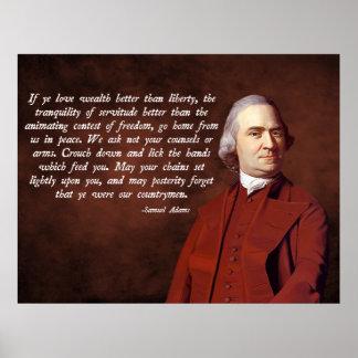 Libertad de Samuel Adams Poster