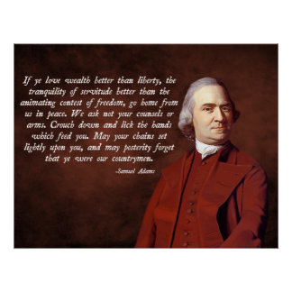 Libertad de Samuel Adams Póster