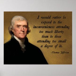 Libertad de Thomas Jefferson Póster