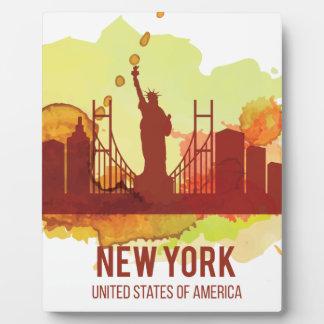 Libertad de Wellcoda New York City NYC los Placas Con Foto