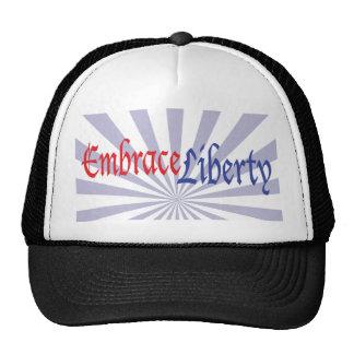 Libertad del abrazo gorras