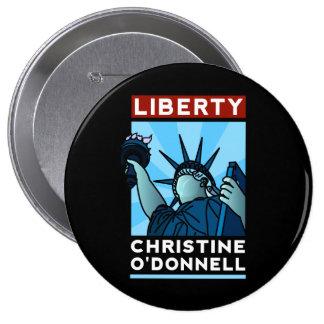 Libertad del americano de Christine O'Donnell 2010 Pin