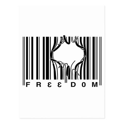 Libertad del código de barras tarjetas postales