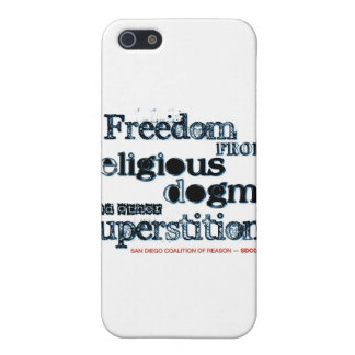 Libertad del dogma religioso iPhone 5 cárcasa