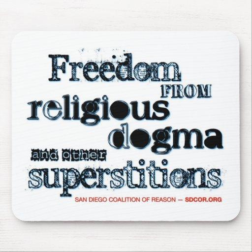 Libertad del dogma religioso tapete de raton