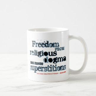 Libertad del dogma religioso taza clásica