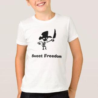 Libertad del dulce del pirata playera
