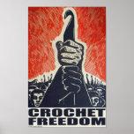 Libertad del ganchillo - poster