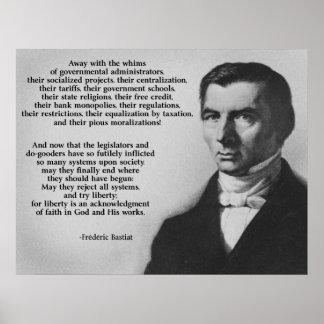 Libertad del intento de Federico Bastiat Poster