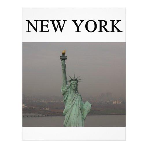 """Libertad del od de la estatua de New York City Folleto 8.5"""" X 11"""""""
