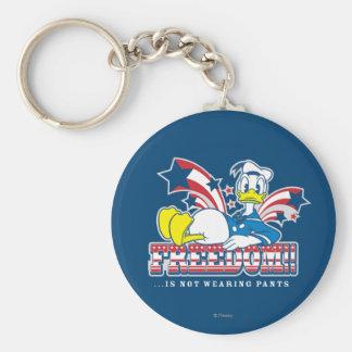 Libertad del pato Donald el | Llavero Redondo Tipo Pin