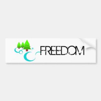 Libertad del río pegatina para auto
