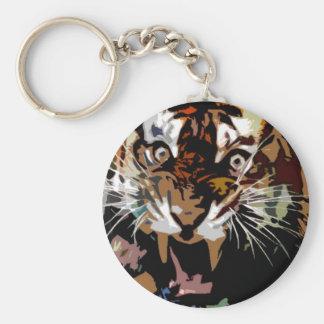 Libertad del tigre llavero redondo tipo pin