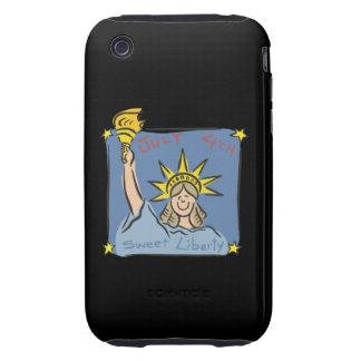 Libertad dulce iPhone 3 tough fundas