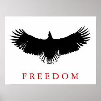 Libertad Eagle del arte pop que aterriza el poster