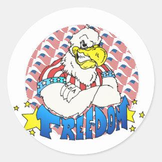 Libertad Eagle Etiqueta Redonda