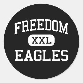 Libertad - Eagles - alta - Virginia que monta del Etiquetas Redondas