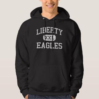 Libertad - Eagles - centro - Ashland Virginia Sudadera Encapuchada