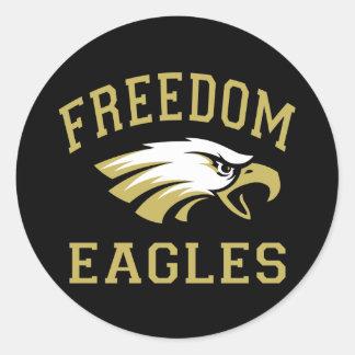 Libertad Eagles Pegatina Redonda