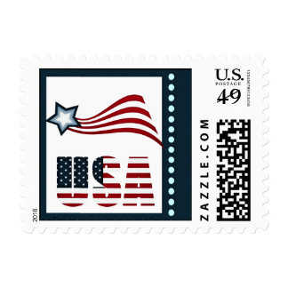 Libertad el 4 de julio timbre postal