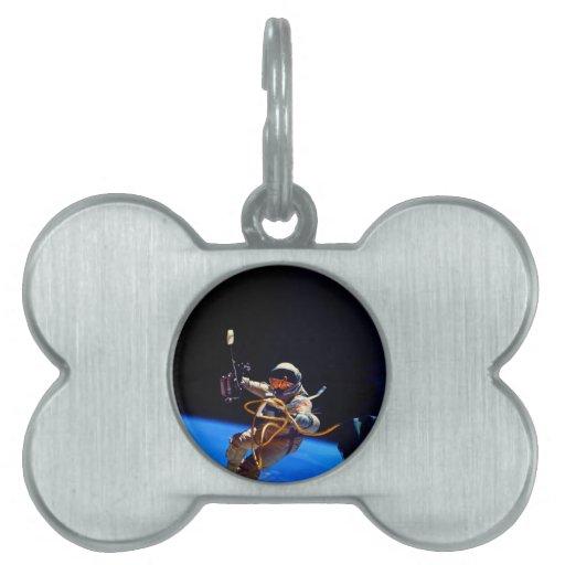 Libertad en astronauta de la NASA del espacio exte Placa De Mascota