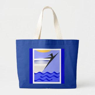Libertad en el mar abierto bolsa tela grande