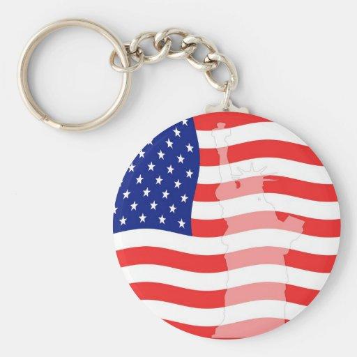 Libertad en llavero de la bandera
