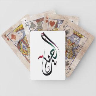 Libertad en naipes árabes baraja cartas de poker