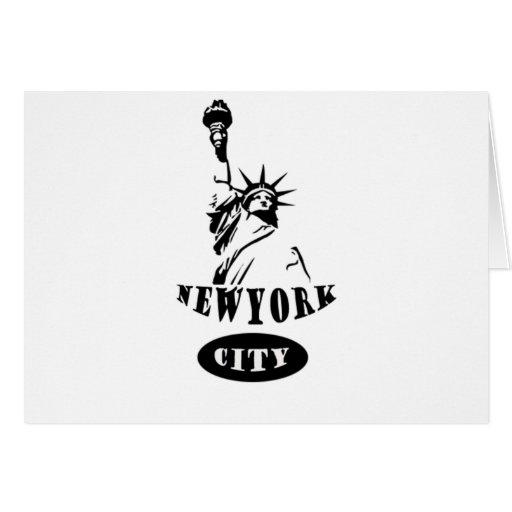 Libertad en New York City Tarjeta De Felicitación