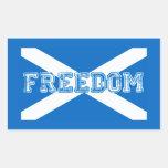 Libertad escocesa de la independiente de Escocia Rectangular Pegatinas