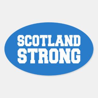 Libertad escocesa de la independiente de Escocia Calcomania Óval Personalizadas