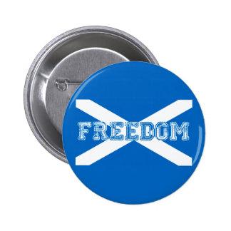 Libertad escocesa de la independiente de Escocia Pin Redondo De 2 Pulgadas