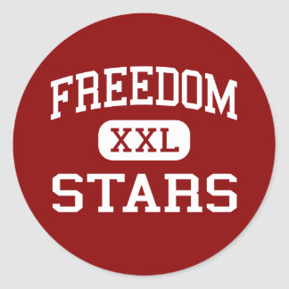 Libertad - estrellas - centro - Franklin Tennessee Pegatina Redonda