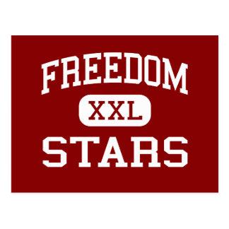 Libertad - estrellas - centro - Franklin Tennessee Tarjetas Postales