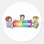 Libertad Etiquetas Redondas
