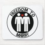 Libertad gay a casarse alfombrillas de raton