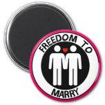 Libertad gay a casarse imán de frigorifico