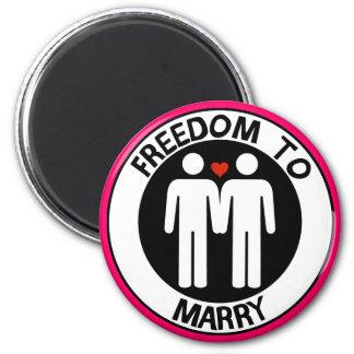 Libertad gay a casarse imán redondo 5 cm